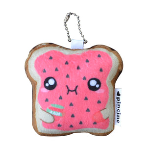 Strawberry Jam Toast Keychain