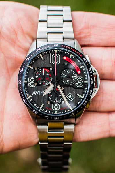 AVI-8 P-51 Mustang Blakeslee Chronograph (AV-4077-11 Legion) - Both Kinds of Pilot's Watch