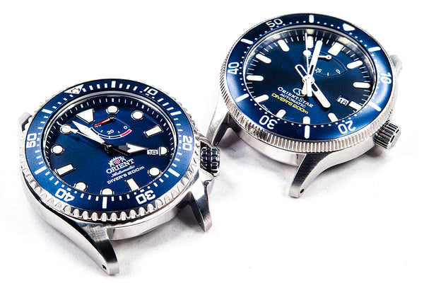 Orient Triton Neptune Star Diver Watch review comparison 200m Blue RA-EL0002L00A RE-AU0302L00B