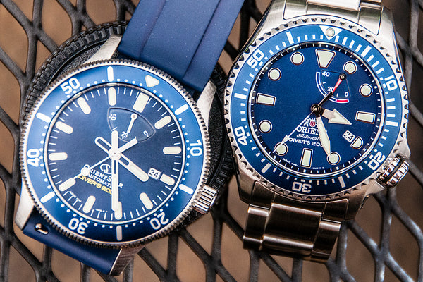 Orient Triton Neptune Star Diver Watch review comparison 200m Blue RA-EL0002L00A RE-AU0302L00B orientstar