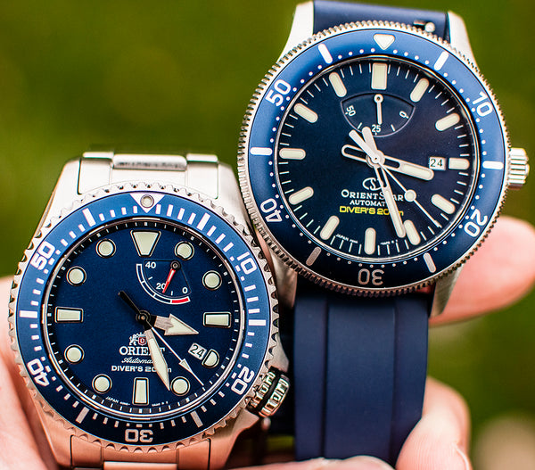 Orient Triton Neptune Star Diver Watch review comparison 200m Blue RA-EL0002L00A RE-AU0302L00B dial bezel