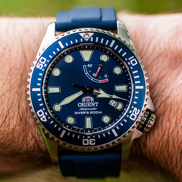 Orient Triton Neptune Diver Watch review comparison 200m Blue dial