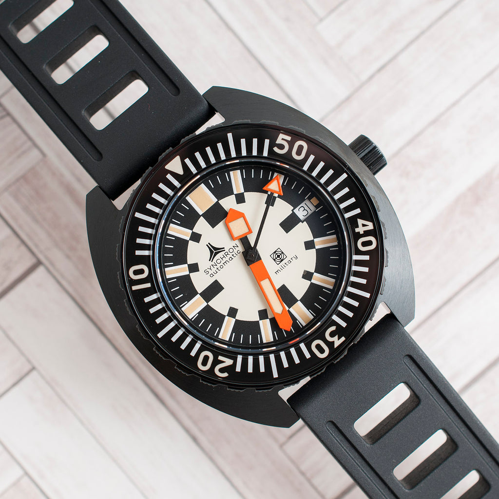Synchron Military Watch Review Black Isofrane 20mm