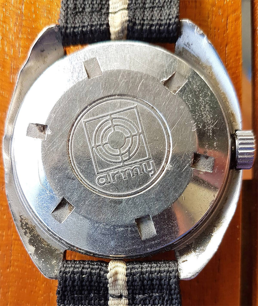 Synchron Military Doxa Army Watch Review Caseback