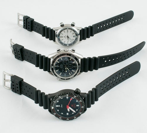 Wave Rubber Quick Release Watch Straps