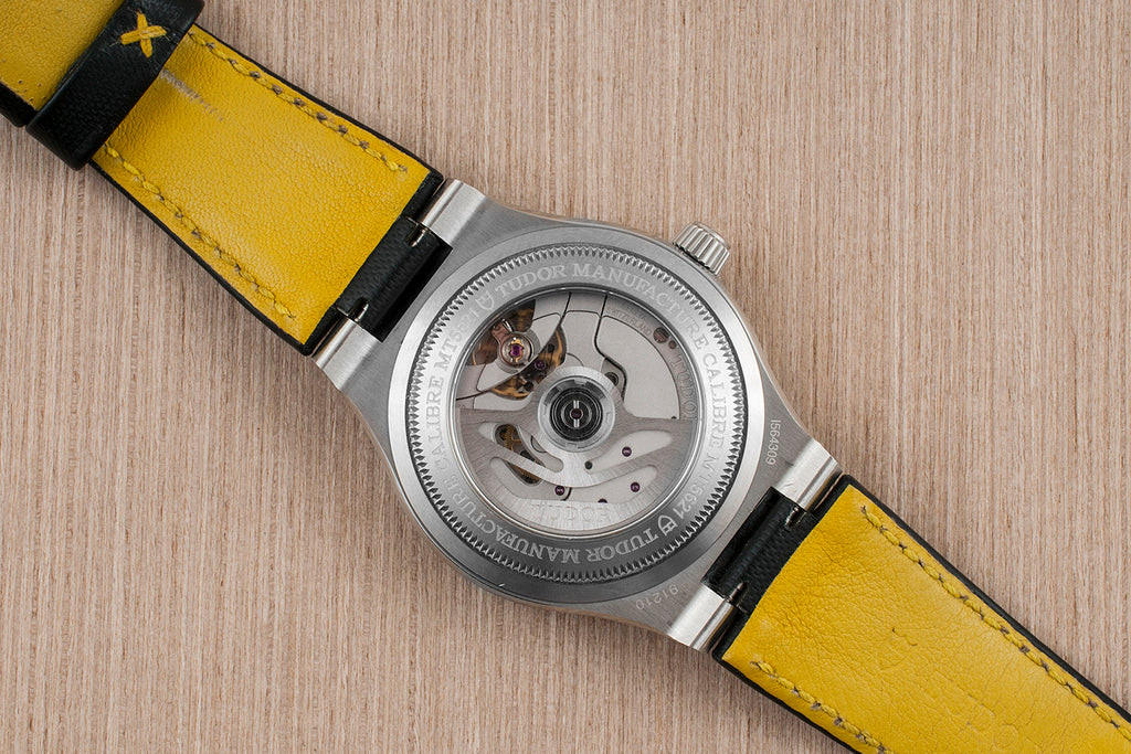 Tudor North Flag Watch Review 91210N 91210 Caseback Strap Yellow