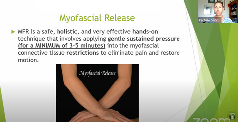 MFR - effective hands-on technique applying gentle sustained pressure into the myofascial connective tissue retrictions
