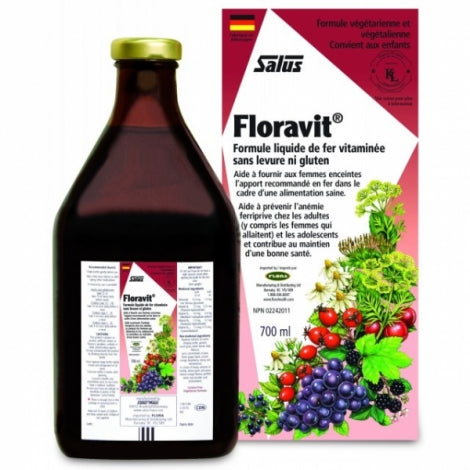 Floravit | Yeast and gluten free liquid iron formula with vitamins | 250/500/700 ml