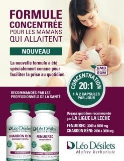 New concentrated formulas for breastfeeding