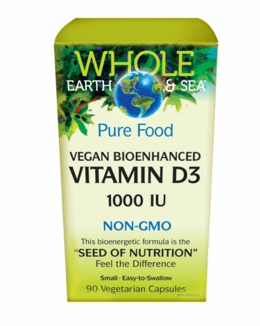 Whole Earth & Sea™ | Vitamine D3 Bio-Végétalienne 1000 UI