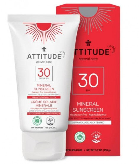 Mineral Sunscreen SPF 30, Fragrance-free