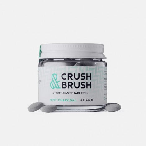 CRUSH&BRUSH Comprimés de dentifrice (Mint charcoal)