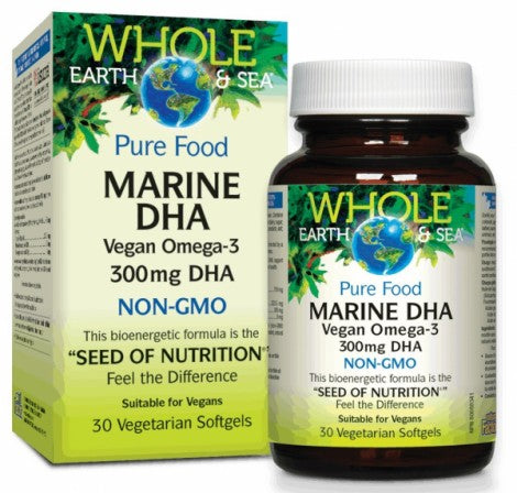 Whole Earth & Sea™ | ADH Marin Oméga-3 végétaliens 300 mg d'ADH