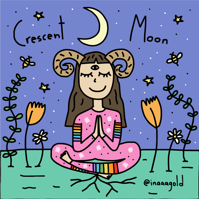 Crescent moon art