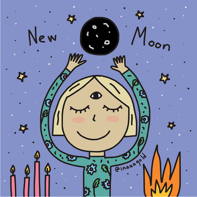 New moon art