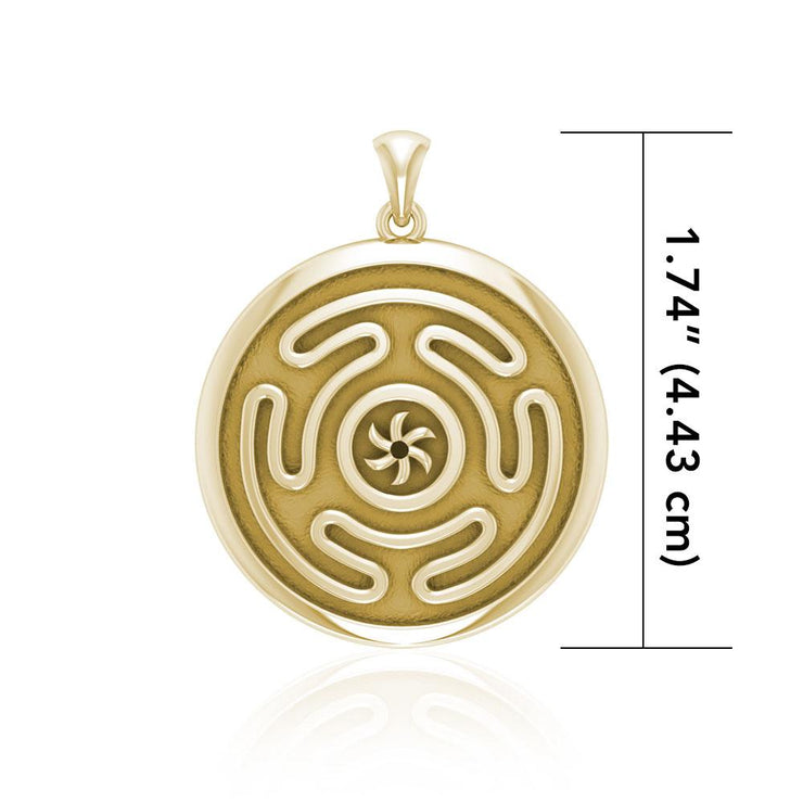 Hecate's Wheel Gold Pendant GPD1979 - Peter Stone Wholesale