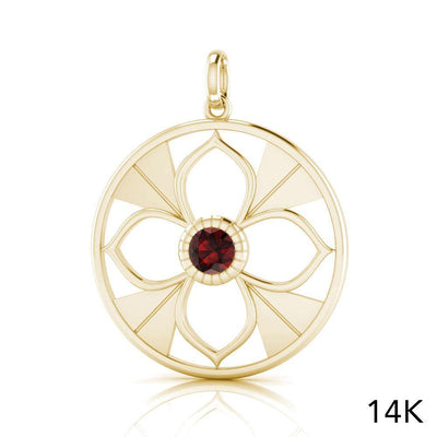 Symbols Of Femininity Solid Gold Pendant with Gemstone GPD3984 peterstone.