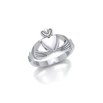 Take my love for a lifetime ~ Celtic Knotwork Irish Claddagh Sterling Silver Ring JR348 Ring