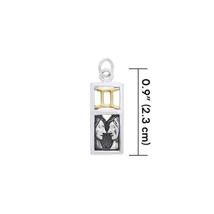 Gemini Silver and Gold Charm MCM297 Charm