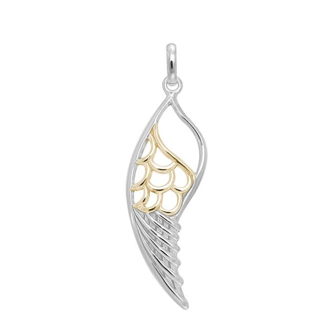 Wing Silver and Gold Pendant MPD3437
