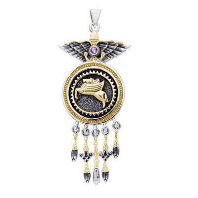 Amy Zerner Pegasus Power Silver and Gold Pendant MPD3661 Pendant