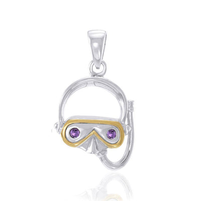Memorable Sea Experience with a Dive Mask ~ Sterling Silver Pendant MPD694