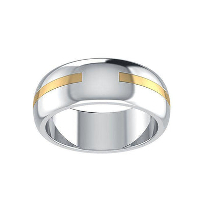 Words That Matter Gold Accented on Silver Ring MRI1648 Custom Word