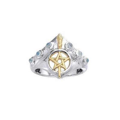 Silver Broomstick Ring MRI343