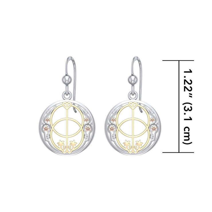 Three Tone Chalice Well Earrings OER052 Earrings