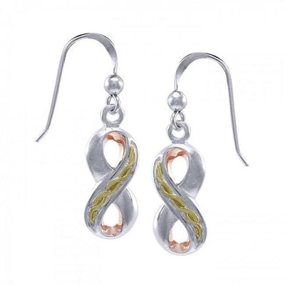 Infinity Three Tone Earrings OER1108