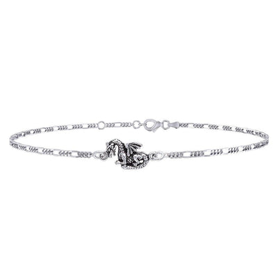 Your everyday little charm ~ Sterling Silver Jewelry Fantasy Dragon Anklet TBG735