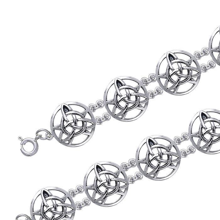 Celtic Trinity The Star Silver Bracelet TBL027