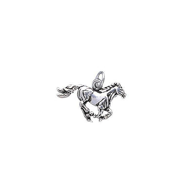Running Horse Sterling Silver Charm TC298