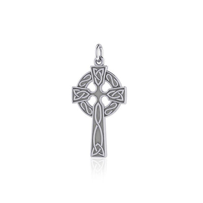 Celtic Knotwork Celtic Cross Silver Charm TC558 Charm