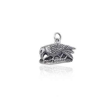 Raven Silver Charm By Ted Andrews TCM044