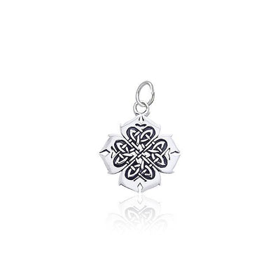 Celtic Knots And Irish Shamrock Silver Charm TCM131