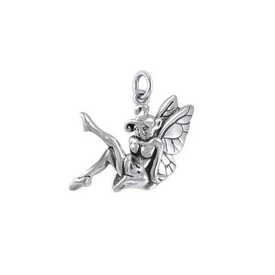 Enchanted Sitting Fairy Silver Charm TCM656
