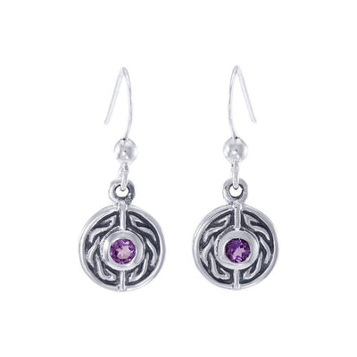 Celtic Knotwork Silver Earrings TE1014
