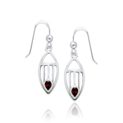 Art Deco Silver Earrings TE1094