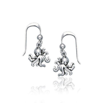 Octopus Silver Earrings TE2044