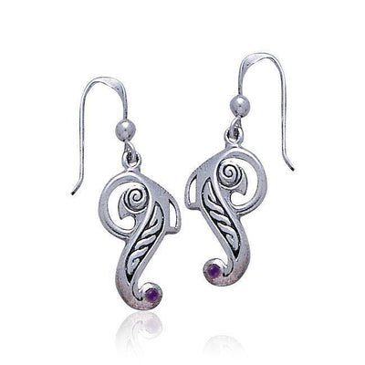 Celtic Knotwork Bird Silver Earrings TE2065
