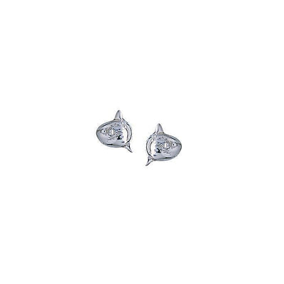 Sunfish Post Silver Earrings TE2125