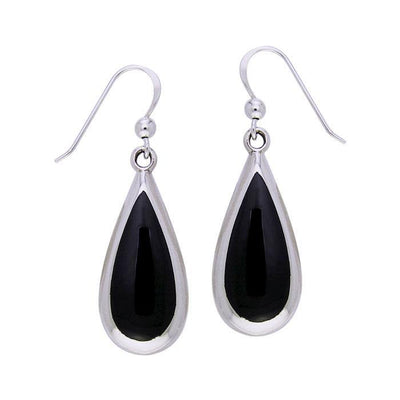 Pear Cabochon Gemstone Silver Earrings TE2942