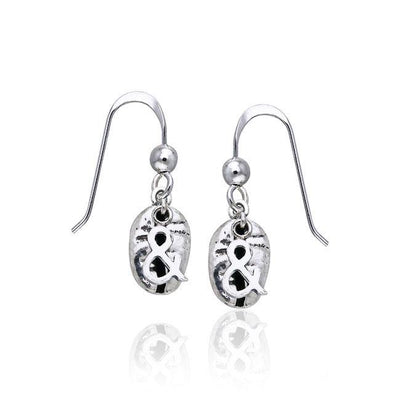 Coffee Bean Silver Earrings TE609