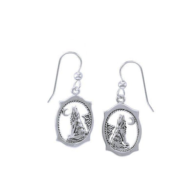 Howling Wolf Earrings TE744