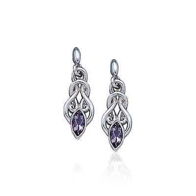 Celtic Knotwork Silver Earrings TE861