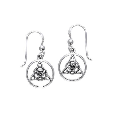Celtic Trinity The Star Silver Earrings TER043