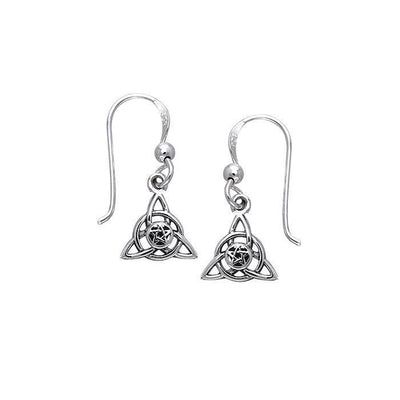 Celtic Trinity The Star Silver Earrings TER058