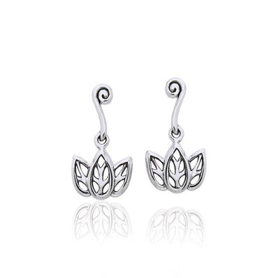 Citta Three leaf Silver Post Earrings TER1003 Earrings