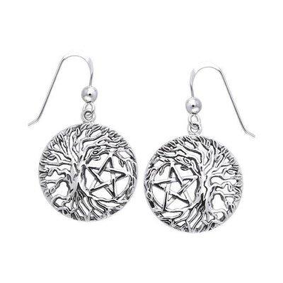 Mickie Mueller Tree of Life Pentacle Silver Earrings TER1106